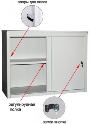 Шкаф-купе металлический ALS 8815 купить на выгодных условиях в Воронеже
