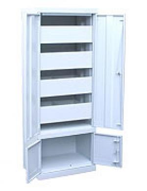 Шкаф металлический картотечный ШК-4-Д4 купить на выгодных условиях в Воронеже